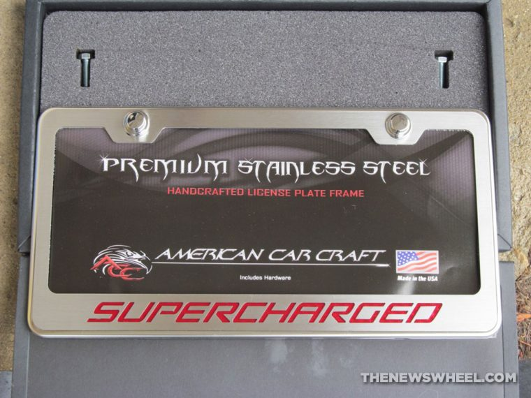 American Car Craft Premium Stainless Steel license plate frame review accessory