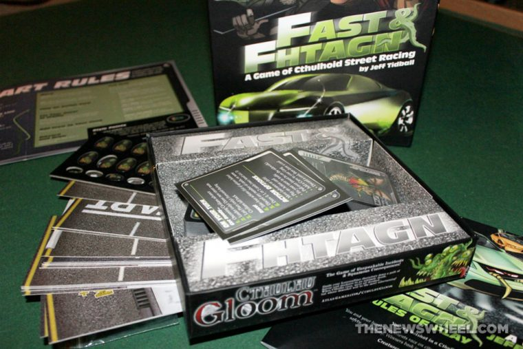 Fast and Fhtagn cthulu street racing game review unboxing components