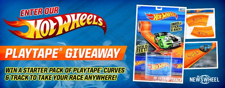 Hot Wheels Play Tape Giveaway toy car track banner