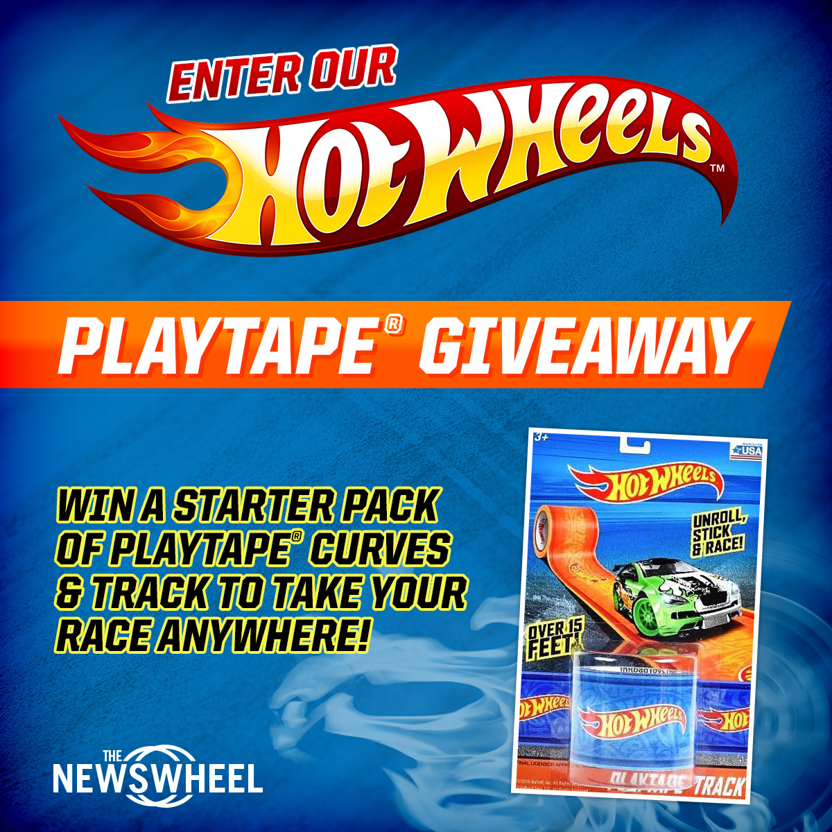 The News Wheel Hot Wheels Play Tape Giveaway