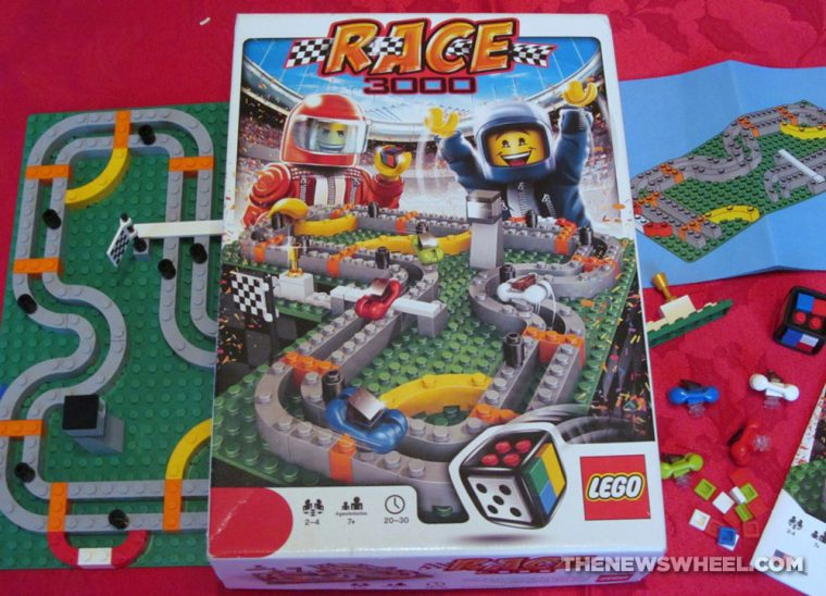LEGO Race 300 car racing board game review Course Set 3839