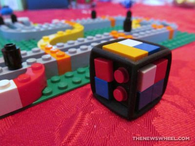 LEGO Race 300 car racing board game review build dice
