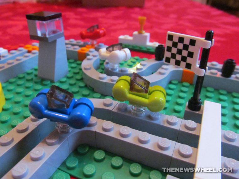 LEGO Race 300 car racing board game review pieces
