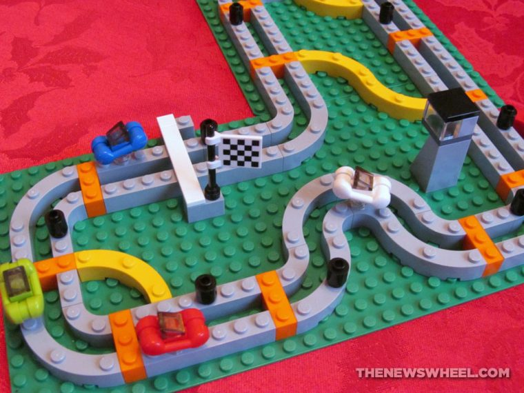LEGO Race 300 car racing board game review track play