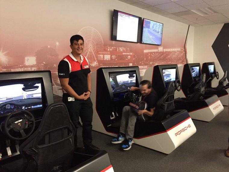 Simulators running Assetto Corsa at the Porsche Experience Center