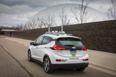 Self-driving Chevy Bolts have begun testing on public roadways in Michigan