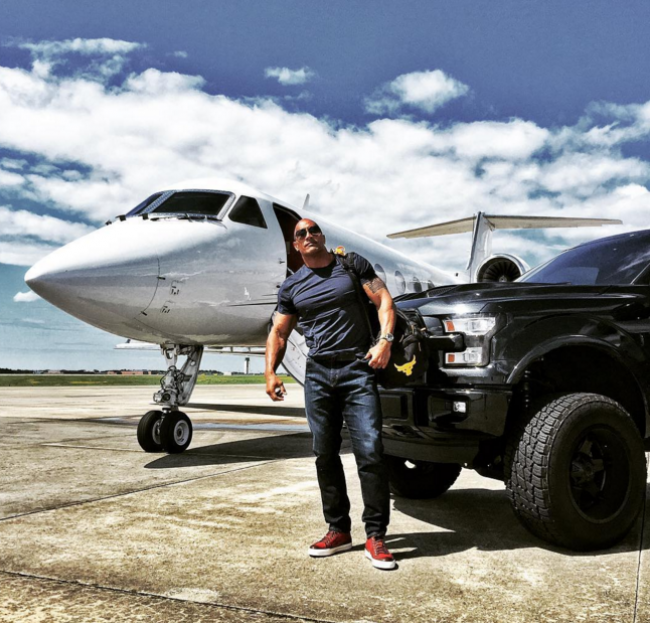 Any list of the best celebrity cars must include The Rock's Custom F-150