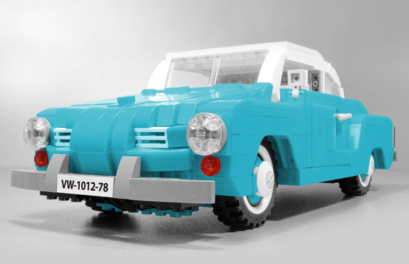 Volkswagen VW Karmann Ghia LEGO set classic car model Vibor Cavor Azure