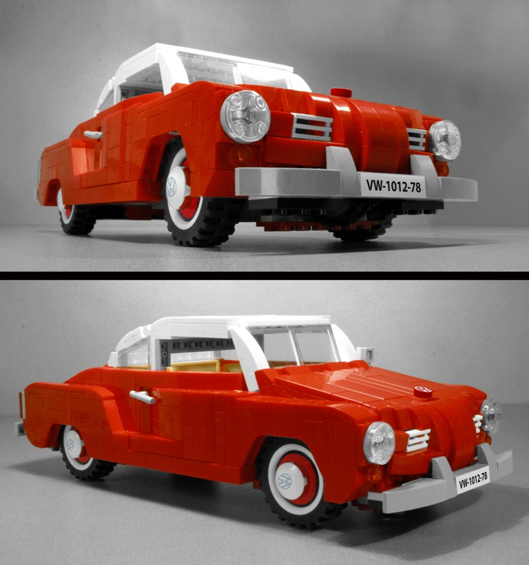 Volkswagen Vw Karmann Ghia Lego Set Classic Car Model