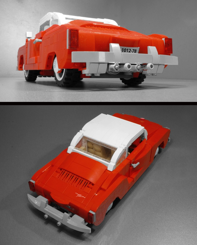Volkswagen vw karmann ghia lego set classic car model for Modele maison lego classic