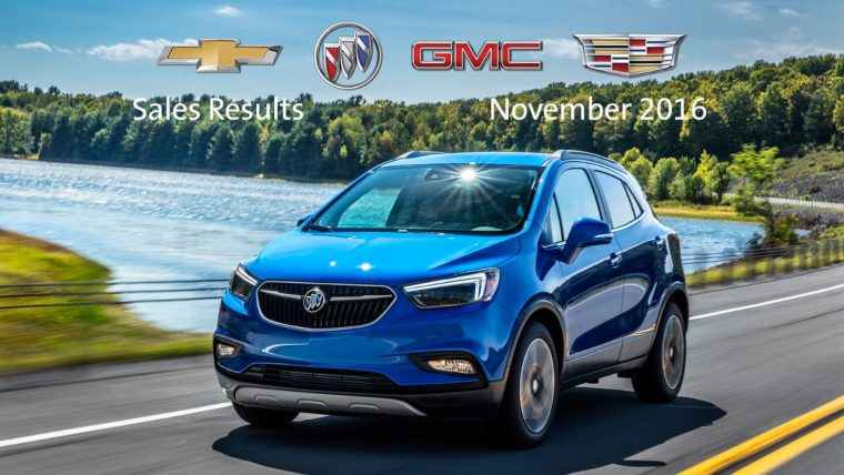 November 2016 GM sales results