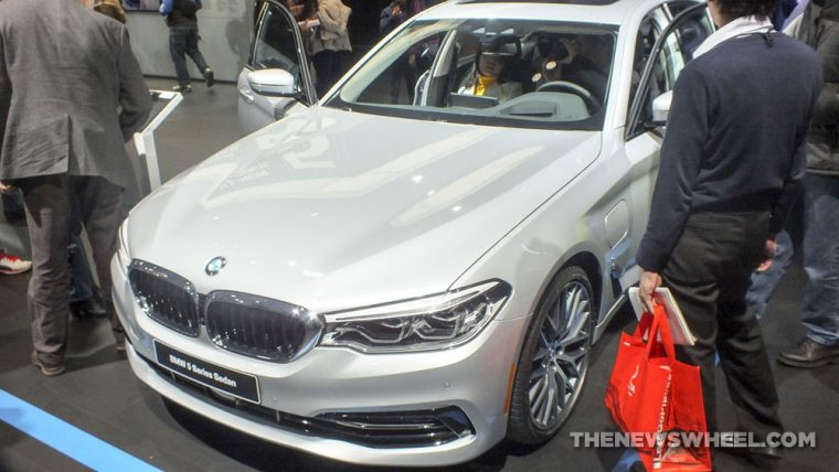 Another view of the new BMW 5 Series