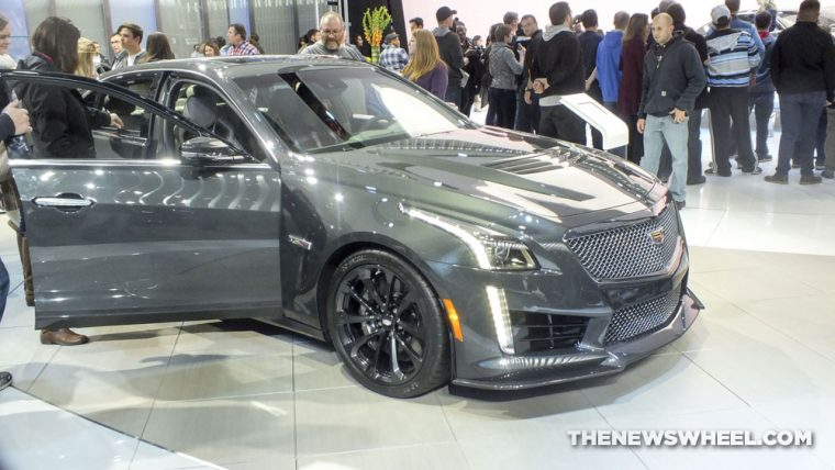 The 2017 Cadillac CTS-V was one of the fastest cars shown at the 2017 Detroit Auto Show
