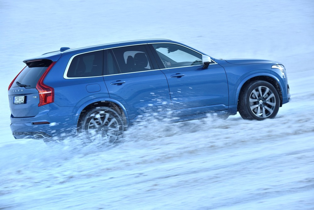 The 2017 Volvo XC90 T8 features a hybrid powertrain and carries a starting MSRP of $67,800