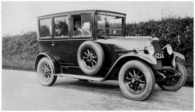 Antique old fashioned automobile car archive classic vehicle black and white