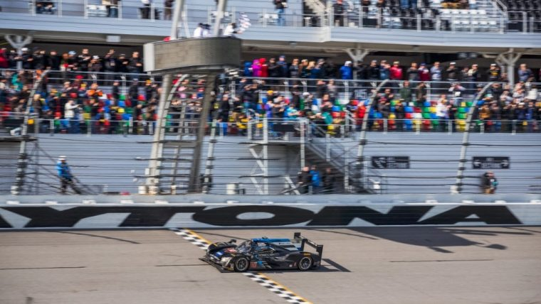 The 10. Konica Minolta Cadillac DPi-V.R of Wayne Taylor Racing won the 24 Hours of Daytona in 2017