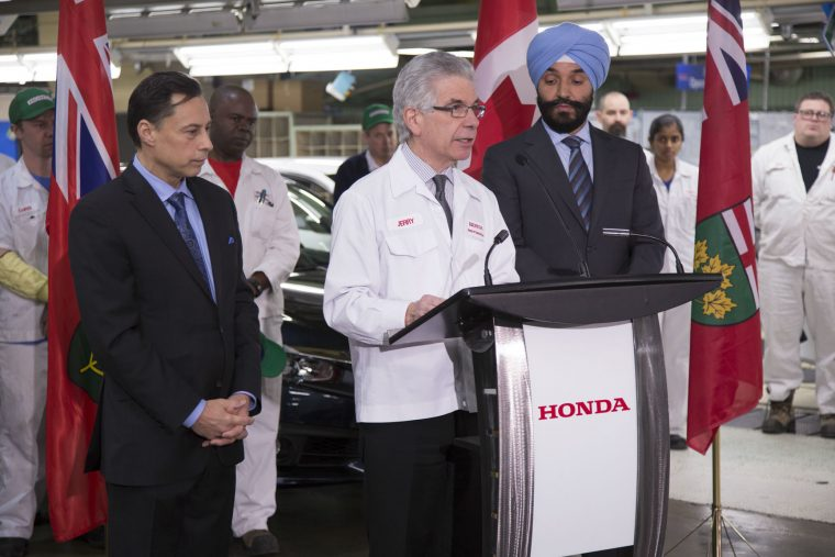 Honda Canada announces investment in Ontario Manufacturing Plains