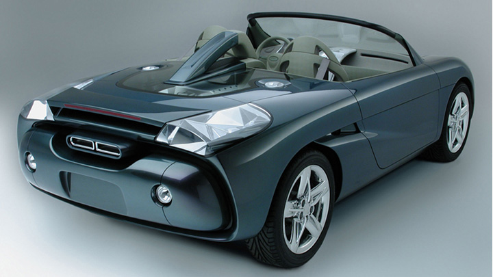 Hyundai HCD-6 Roadster concept car at 2001 Chicago Auto Show