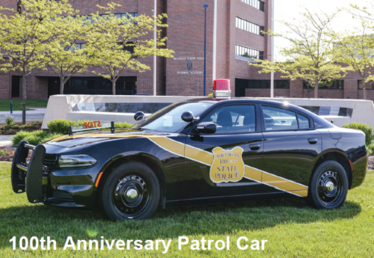 One of the Special Edition black and gold Dodge Charger patrol vehiclesPhoto:Michigan State Police