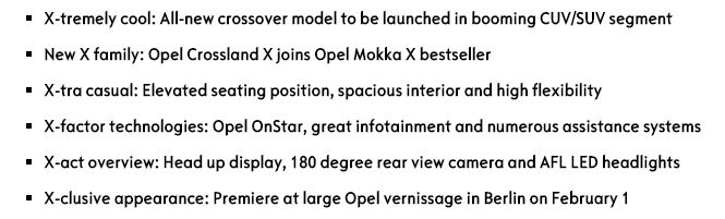 Opel Bullet Points