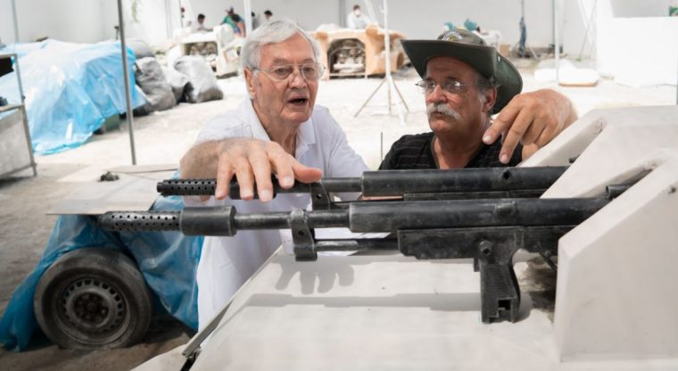 Producer Roger Corman and FX Director Fernando Vasquez