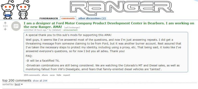 Ford Ranger AMA