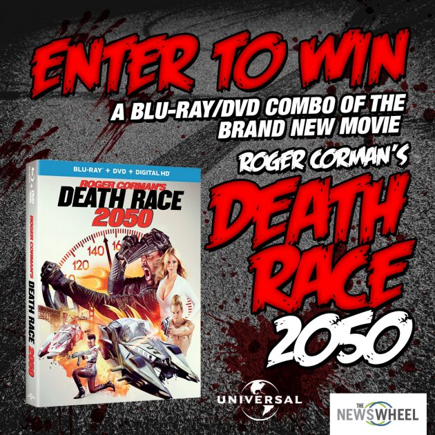 Roger Corman Death Race 2050 movie giveaway enter to win DVD Blu-Ray prize post