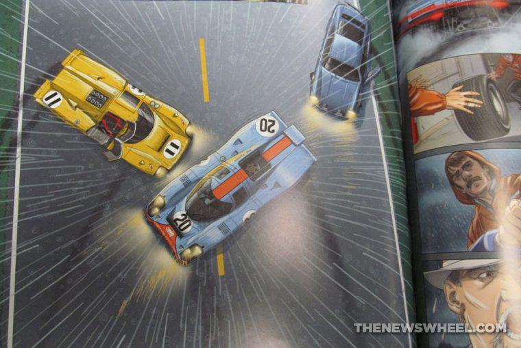 Steve McQueen in Le Mans graphic novel comic book review Garbo Studios movie adaptation