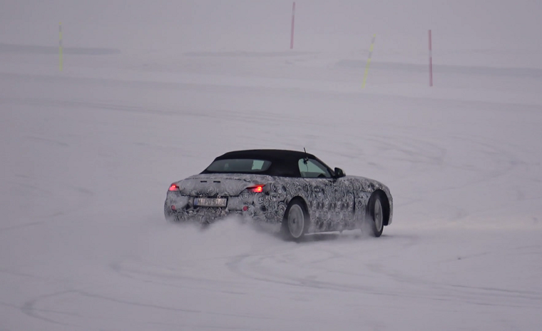 Toyota Supra / BMW Z5 test mule