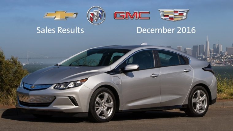 General Motors December 2016 sales report
