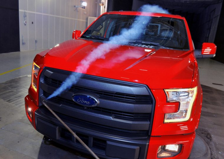 Ford F-150 wind tunnel testing