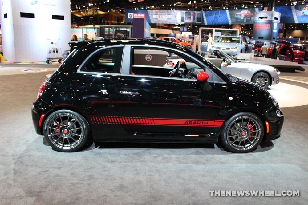 fiat abarth black. 2017 fiat 500 abarth black sedan car on display chicago auto show 2 the news wheel