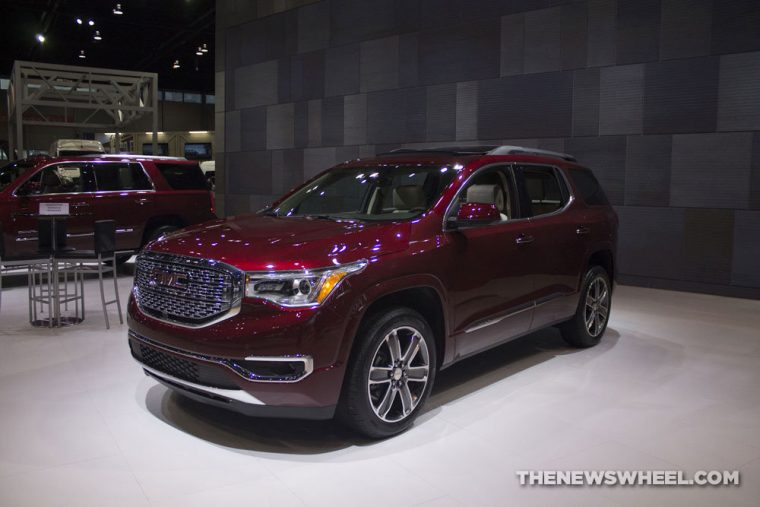 GMC brought its full lineup of vehicles to the 2017 Chicago Auto Show, including the 2017 GMC Acadia Denali