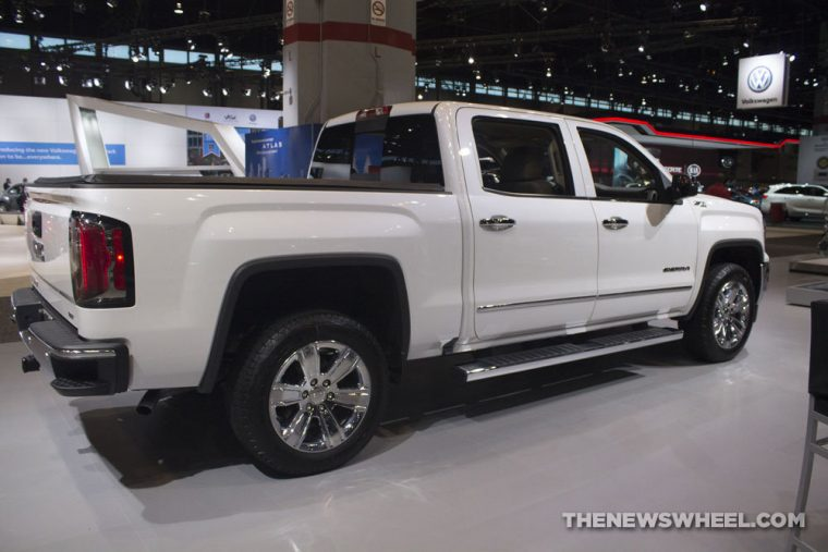 GMC brought its full lineup of vehicles to the 2017 Chicago Auto Show, including the 2017 GMC Sierra SLT Elevation