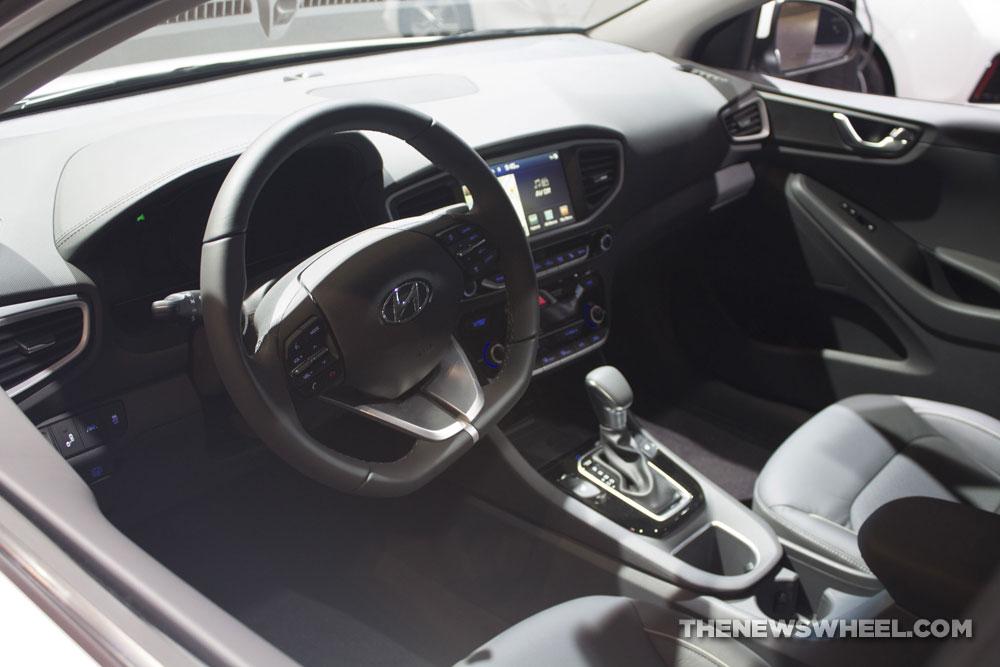 2017 Hyundai Ioniq hybrid electric car EV white Chicago Auto Show