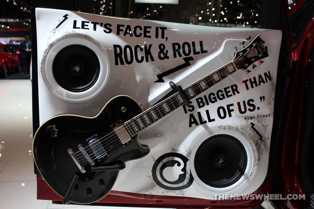 2017 Kia Sedona School of Rock white van on display Chicago Auto Show