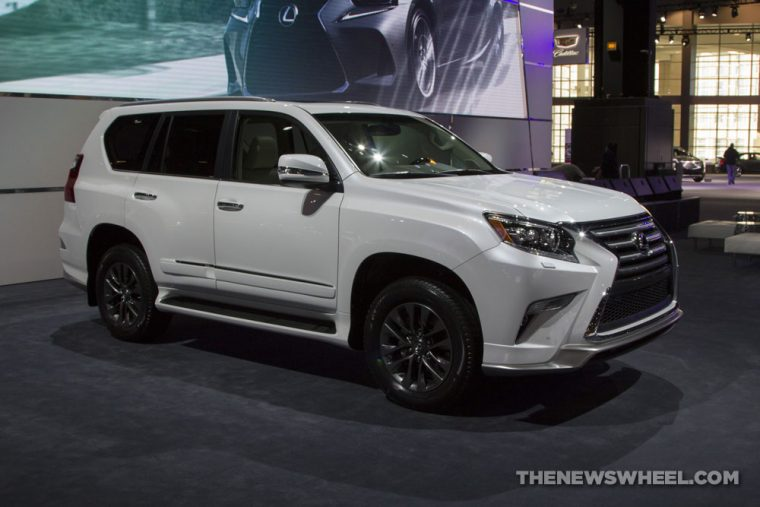 2017 Lexus Gs White Suv On Display Chicago Auto Show