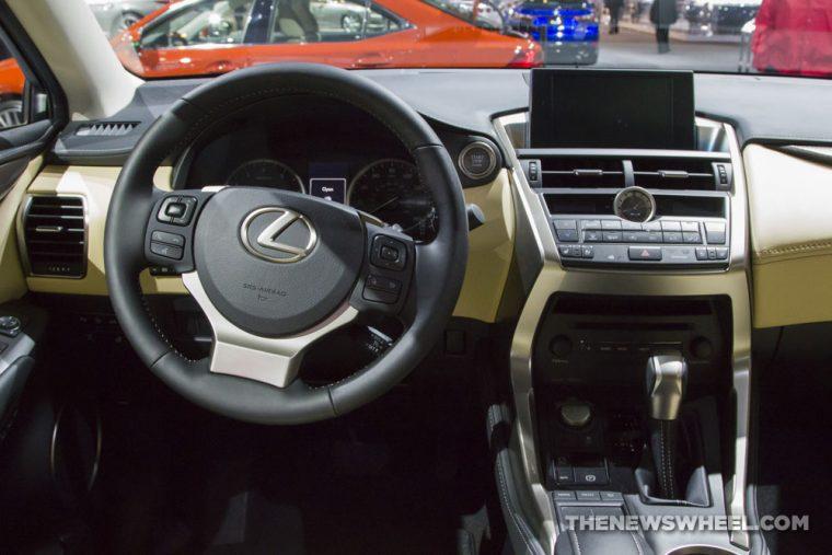 2017 Lexus NX Turbo black SUV on display Chicago Auto Show