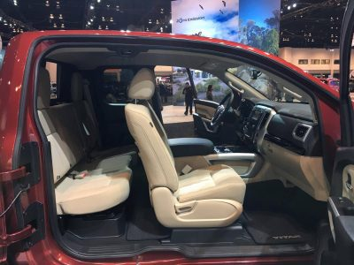 2017 Nissan Titan King Cab pickup Truck at Chicago Auto Show doors