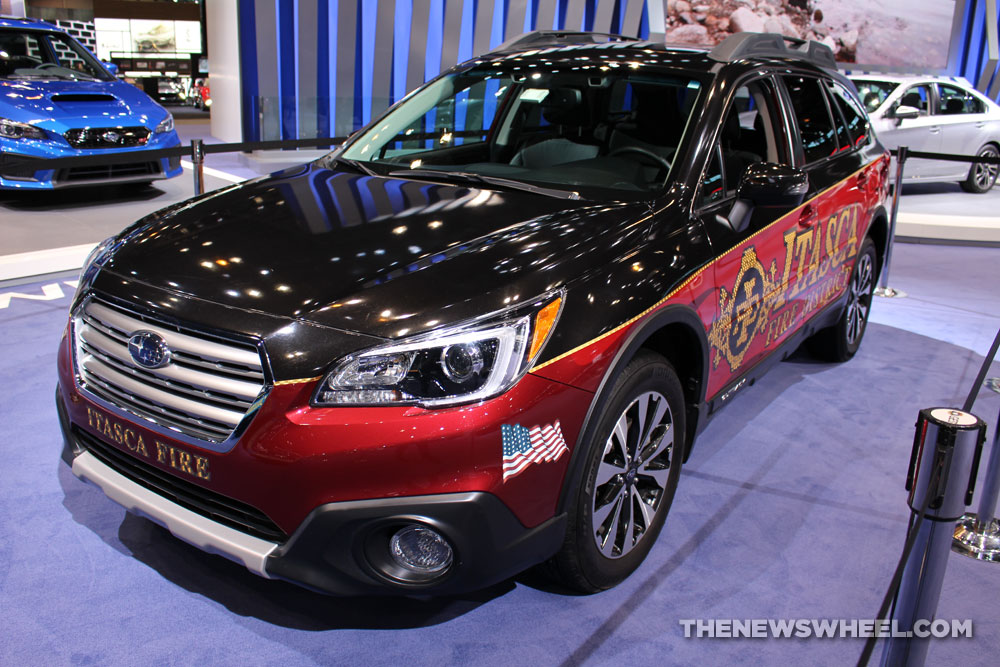 2017 Subaru Outback Itasca Fire Department SUV on display Chicago Auto Show