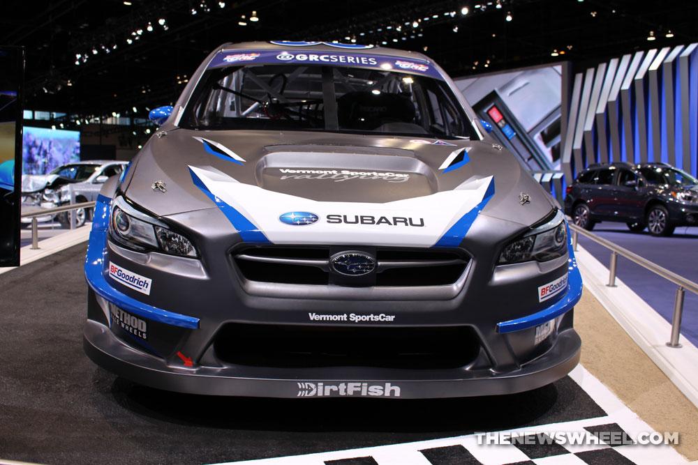 2017 Subaru WRX Rally gray sedan car on display Chicago Auto Show