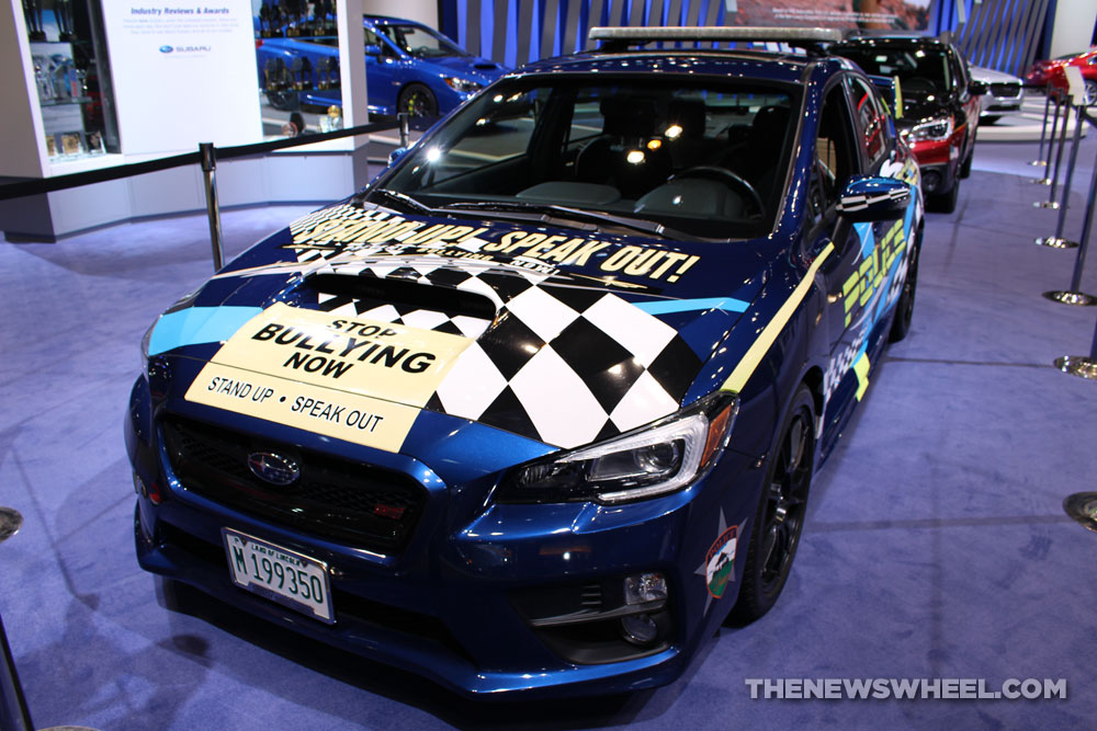 2017 Subaru WRX STI anti-bullying sedan car on display Chicago Auto ...