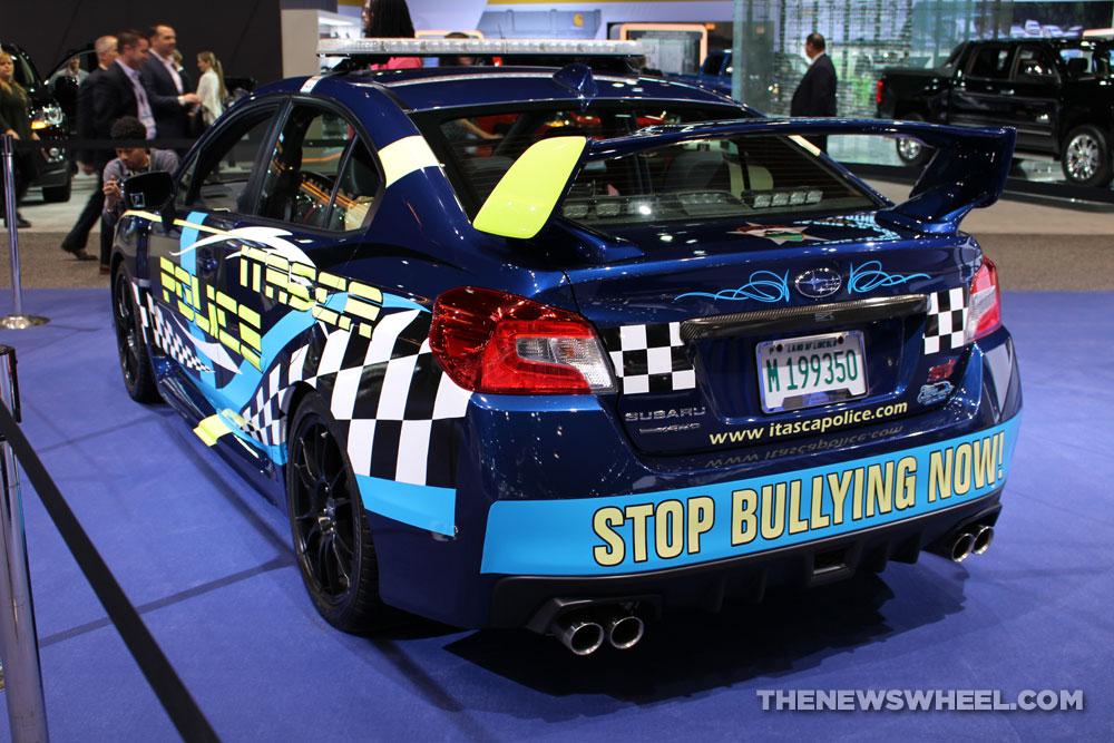 2017 Subaru WRX STI anti-bullying sedan car on display Chicago Auto Show