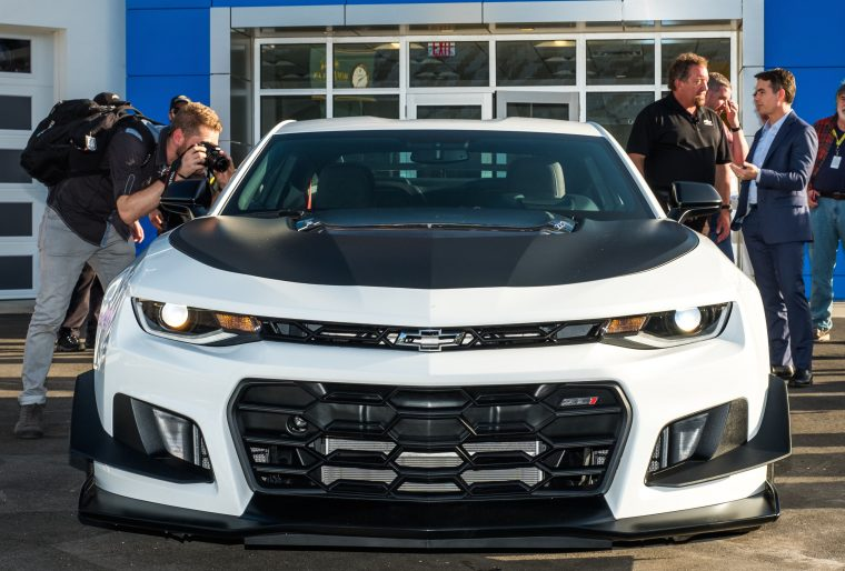 The 2018 Camaro ZL1 1LE — the most track-capable Camaro ever — makes its world debut at the Chevrolet Experience Center Friday, February 24, 2017 at Daytona International Speedway in Daytona Beach, Florida. The new Camaro features special aero, adjustable suspension and exclusive tires that drive unprecedented performance for a production sports car.