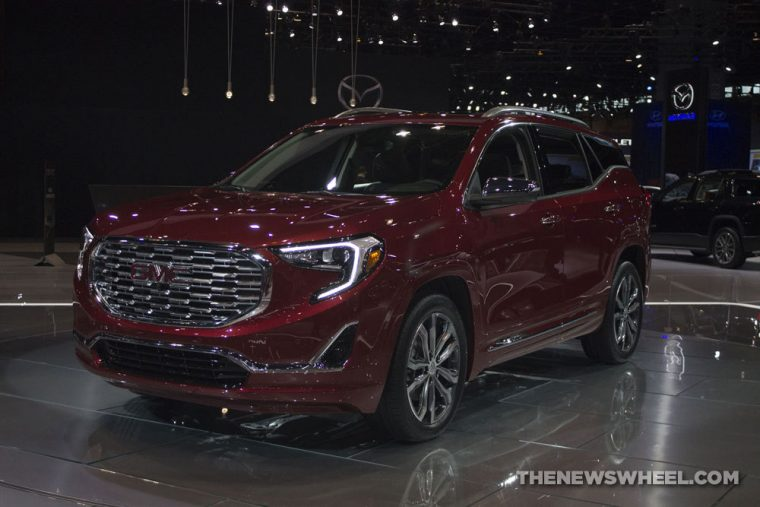 GMC brought its full lineup of vehicles to the 2017 Chicago Auto Show, including the 2018 GMC Terrain