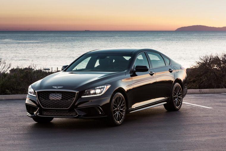2018 Genesis G80 Sport luxury sedan display