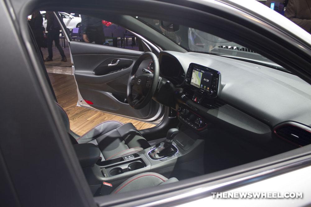 2018 Hyundai Elantra GT Sport white sedan car debut at Chicago Auto Show