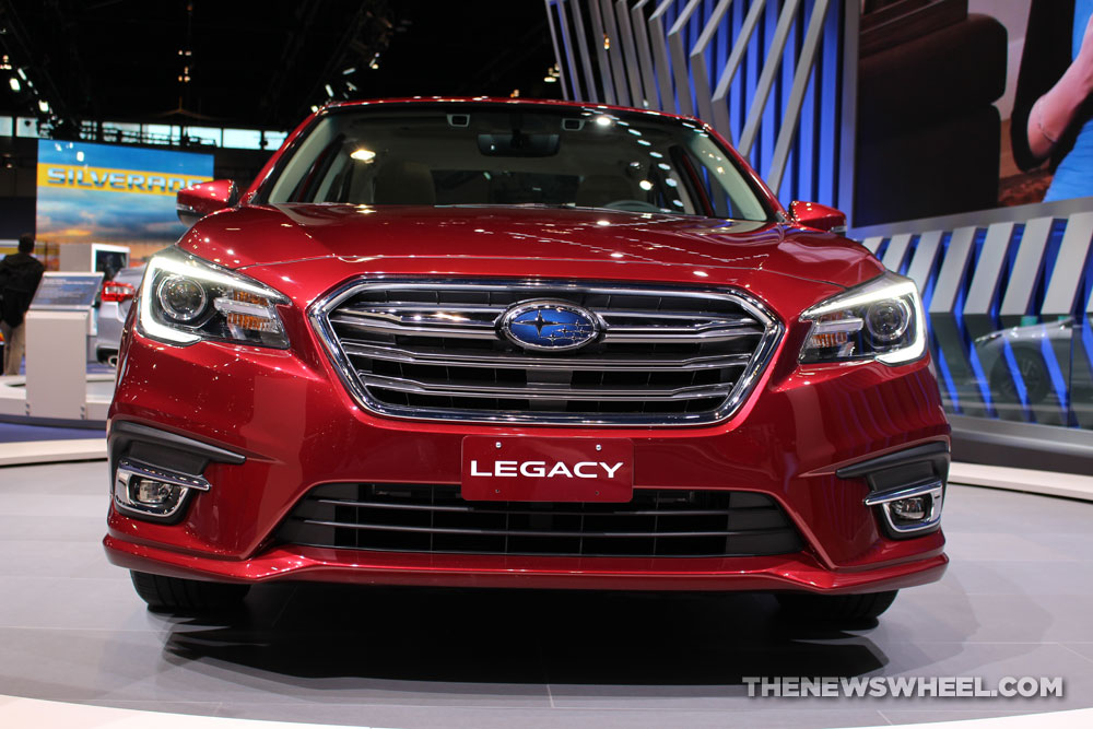2018 subaru sedan.  2018 2018 subaru legacy 36r limited red sedan car on display chicago auto show  1  the news wheel for subaru