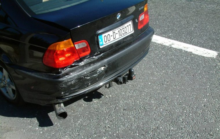 Thankfully, the damage done to the BMW was not this extensive Photo: Irish Typepad