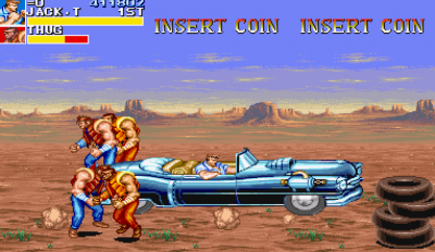 Cadillacs and Dinosaurs Capcom video game footage